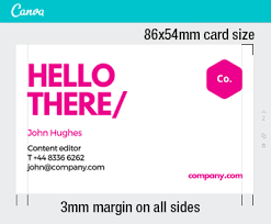 Business Card With Bleed Canva Design For U003c U003d U003e Business Cards Free Delivery Australia