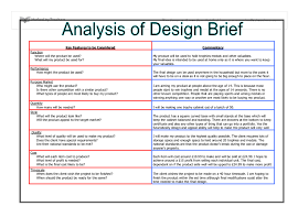 design brief a level analysis of design brief gcse design technology marked by