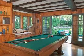 Game Room Garage Family Room Tropical With Arcade Games Oval - Garage family room