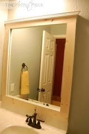 Frame Bathroom Mirror by Fancy Framed Bathroom Mirrors Diy 98 For With Framed Bathroom