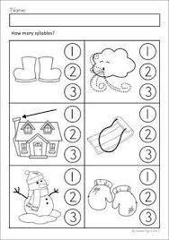 kindergarten syllable worksheets worksheets