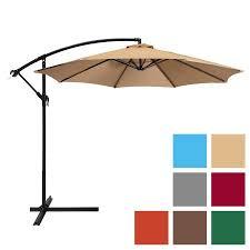 Patio Umbrellas Walmart Patio Umbrella Offset 10ft Hanging Outdoor Market Umbrella New