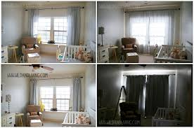 decor cream penneys curtains with ikea side table and lamp