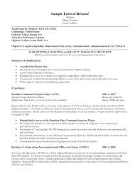 Resume Format For Government Job by Resume Sample For Federal Job