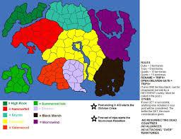 Elder Scrolls World Map by Elder Scrolls Risk