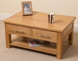 Light Oak Coffee Tables by Oslo Solid Oak 2 Drawer Coffee Table 90 X 43 X 60 Cm Amazon Co