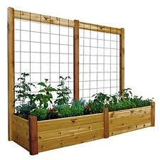 Wooden Planter With Trellis Greenhurst Plastic Garden Trellis Outdoor Planter With Two Solar