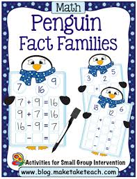 number fact families fact families and number bonds winter themed activities