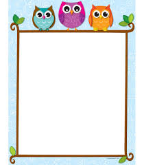 colorful owls on a branch computer paper classroom décor from