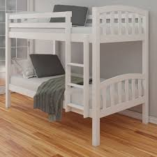 White Bunk Bed With Trundle White Solid Wood Bunk Beds Oak For Sale Modern Wooden With Trundle