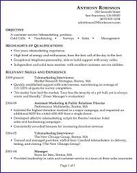 Great Customer Service Resumes Unforgettable Experienced Telemarketer Resume Examples To Stand