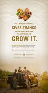 tribute to farmers on thanksgiving