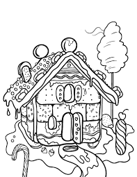 printable gingerbread house coloring free pdf download