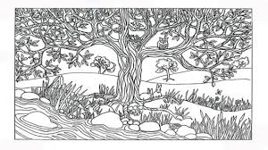 nature scene coloring pages category coloring pages of nature