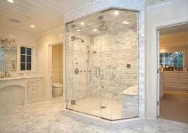Marble Bathroom Showers Master Bathroom With Marble Shower Tile Patterns Bathroom Shower