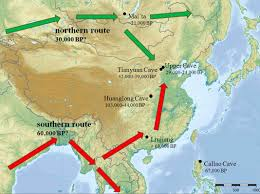 Map Of Eastern Asia by Early Human Settlements In East Asia Hla Molecular Variation