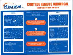 rca remote manual control remoto universal génerico macrotel rca general electric