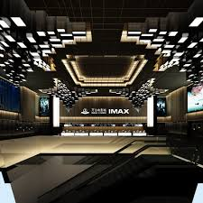 imax home theater 3d modern movie theatre imax cgtrader
