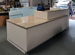Commercial Reception Desk Dorset Custom Furniture A Woodworkers Photo Journal A