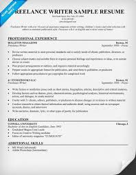 freelance resume template freelance writer resume exle resumecompanion resume
