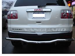 t 304 07 12 gmc acadia rear bumper grill guard protector single