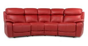 Dfs Recliner Sofas by Dfs Daytona Red 100 Leather Recliner Set Inc 4 Seater Curved Sofa
