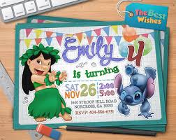 lilo stitch invitations etsy