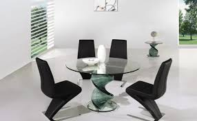 Circle Glass Table And Chairs Wonderful Stainless Modern Dining Round Glass Dining Table Chairs