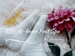 diy at home foot spa lace n ruffles