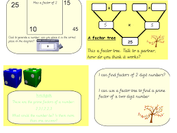 factor trees by joannegado teaching resources tes