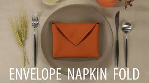 Fold Envelope by Envelope Napkin Fold Youtube