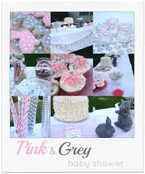 pink and gray baby shower pink and grey baby shower