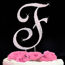 rhinestone cake toppers rhinestone cake toppers for weddings monogram and initial cake topper
