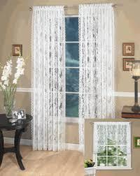 lace curtains monaco lace curtain pair by lorraine home