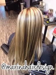 chunky blonde highlights brown lowlights hair ideas marina hair