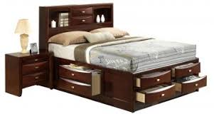 furniture linda king storage bed in merlot