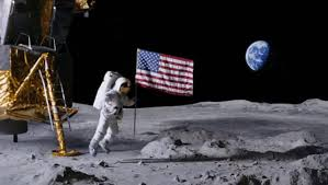 American Flag On The Moon Planting Flags On Planets Coub Gifs With Sound