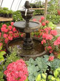 cliserpudo beautiful flower garden with fountain images and home