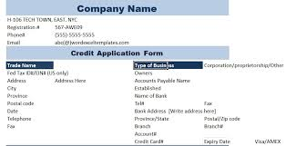 free credit application template credit application for carpet