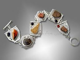 silver bracelet with stones images Handmade gemstone designer bracelets cuffs and bangles jpg