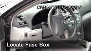 interior fuse box location 2007 2011 toyota camry 2010 toyota