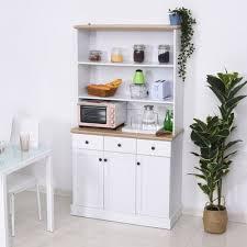homcom kitchen pantry cupboard wooden storage cabinet organizer shelf white homcom free standing kitchen pantry 71 kitchen pantry