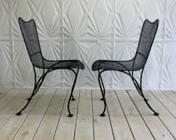 Wrought Iron Mesh Patio Furniture by Mid Century Patio Etsy