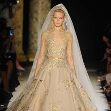 gold wedding dress a high fashion gold wedding dress from elie saab brides