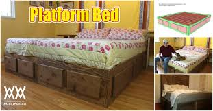 Build A Platform Bed With Storage Plans by Nice King Size Platform Bed With Storage Plans And How To Build A