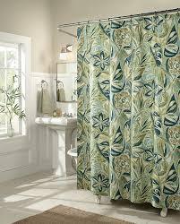 Hunter Green Window Curtains by Amazon Com M Style Island Breeze Shower Curtain Home U0026 Kitchen