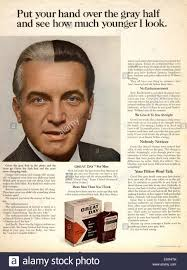 Men Hairstyle Magazine by 1970s Usa Men U0027s Grey Hair Dye Magazine Advert Stock Photo Royalty