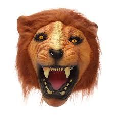 lion head mask creepy animal halloween costume theater prop latex
