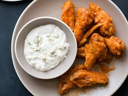 chicken wings with blue cheese dip recipe todd porter and diane