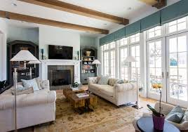 Blue Bookcases Tv Repair Charlotte Nc Family Room Traditional With Bay Windows